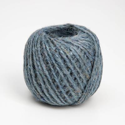 Шпагат джутовый, 1120 Текс, 50 м, цвет синий - Фото 1