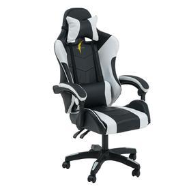 Кресло игровое SL™ TITANUS YS-909, чёрно-белое