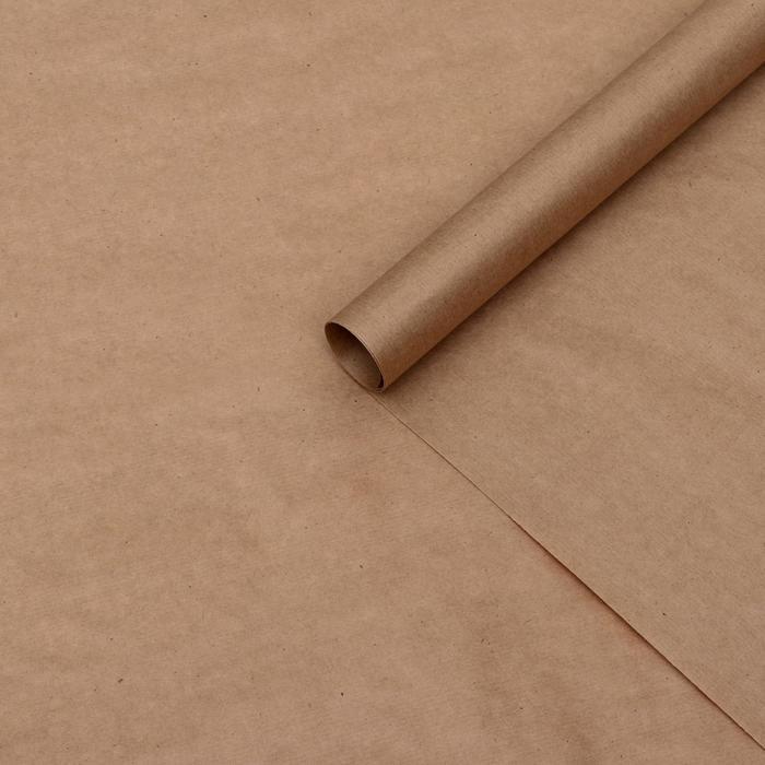 Бумага упаковочная крафт без печати, 70 х 90 см, 70 г/м²