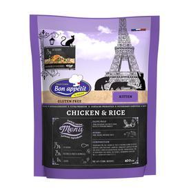 Сухой корм Bon Appetit Kitten для котят, курица/рис, 400 г