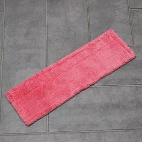 Накладка для плоской швабры, 44×13 см, микрофибра, цвет МИКС