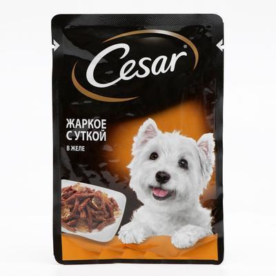 Влажный корм Cesar для собак, жаркое с уткой, пауч, 85 г - Фото 1