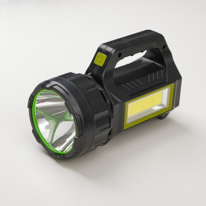 Фонарь ручной аккумуляторный 15 ВтCOB 9 Вт, 1200 мА, USB, солнечная батарея, 7 режимов