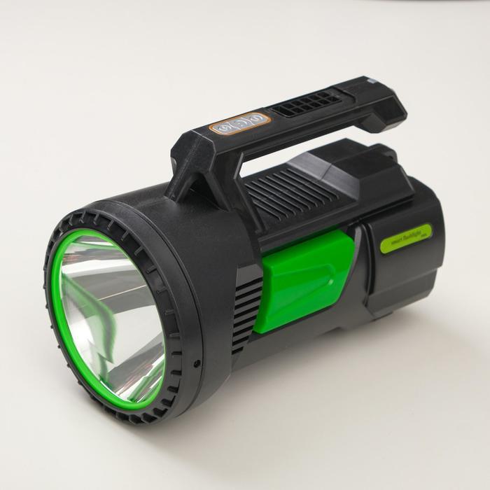 Фонарь ручной аккумуляторный 15 Вт3 Вт, 1200 мА, USB, индикатор заряда, рег. яркости, 3 реж 54036