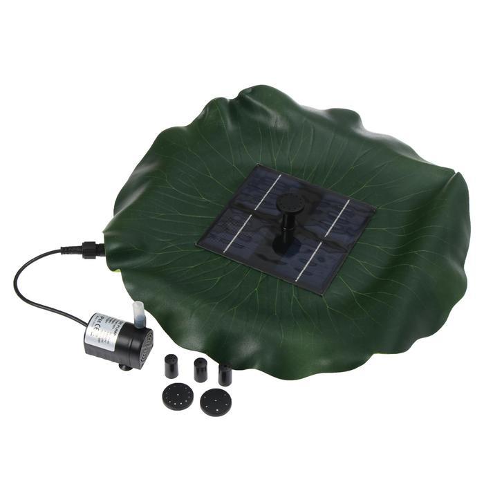 Фонтан плавающий Лотос, d 30 см, на солнечной батарее