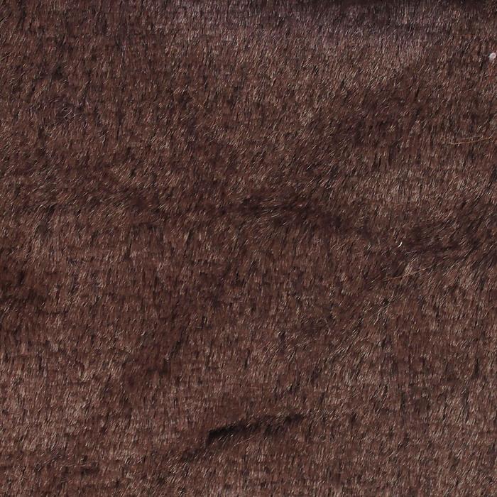 Мех на трикотажной основе цвет темно коричневый, ширина 155 см