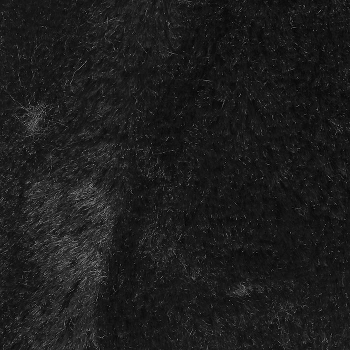 Мех на трикотажной основе цвет черный , ширина 155 см