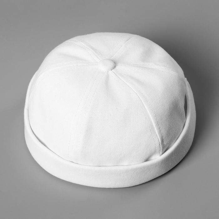 Кепка без козырька, белая, 56 см