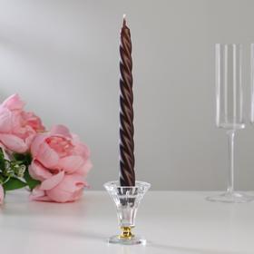Свечи витые лакированные № 2, 2,2х23 см, коричневый