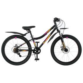 Велосипед 24' Forward Iris 2.0 disc, 2021, цвет черный/оранжевый, размер 12' Ош