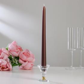 Свечи античные лакированные №40, 2,2х30 см, коричневый