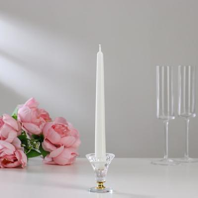 Свечи античные лакированные №2, 2,2×23см, белый