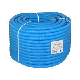 Труба гофрированная TAEN, D32 мм, для м/п трубы DN16, синяя