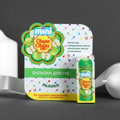 Бальзам для губ Chupa Chups mini Яблоко , 3,8 гр - Фото 1