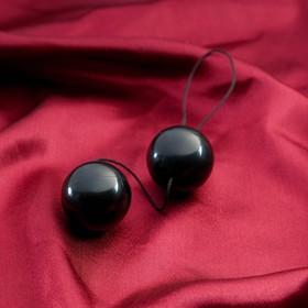 Шарики для интимного массажа 'Sitabellа', d = 3,5 см, чёрные Ош