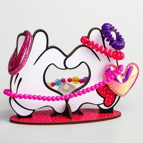 Органайзер для резинок и бижутерии 'Руки Минни и Микки в форме серца', Микки Маус и друзья Ош