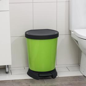 Ведро для мусора с педалью 18л., цвет оливковый