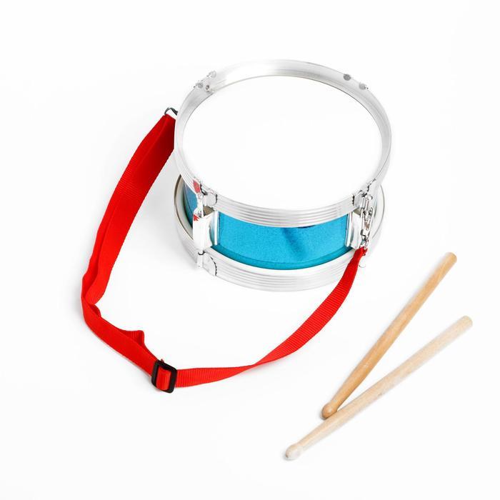 Барабан «Музыкант», с деревянными палочками