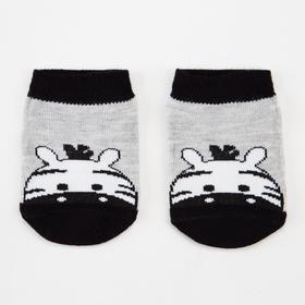Носки детские, цвет серый меланж, размер 12-14