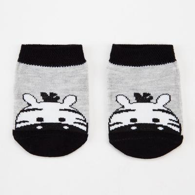 Носки детские, цвет серый меланж, размер 12-14 - Фото 1
