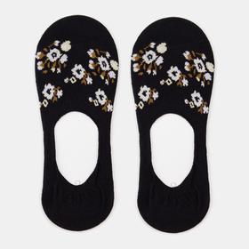 Носки-невидимки женские, цвет чёрный, размер 23-25 (36-40)