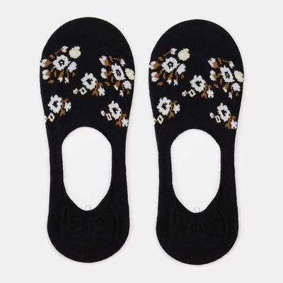 Носки-невидимки женские, цвет чёрный, размер 23-25 (36-40) - Фото 1