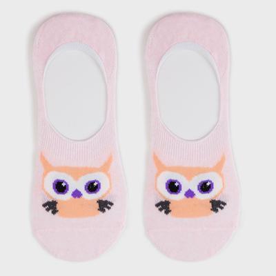 Носки-невидимки женские, цвет розовый, размер 23-25 (36-40) - Фото 1