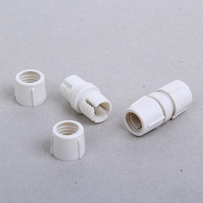 Коннектор для дюралайта 11 мм, 2W, прямой
