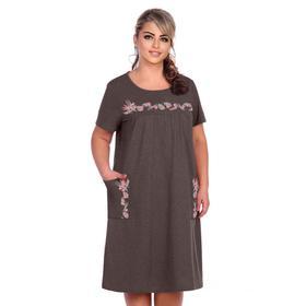 Платье женское «Ева», цвет шоколад, размер 50