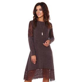 Платье женское «Айова», цвет шоколадный, размер 46