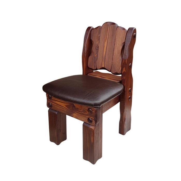 Детский стул «Машенька», 320 × 350 × 600 мм, кожзам, сосна, цвет старый орех