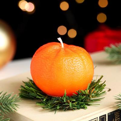 """Новогодняя свеча """"Мандарин"""" - Фото 1"""