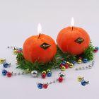 """Новогодняя свеча """"Мандарин"""" - Фото 4"""