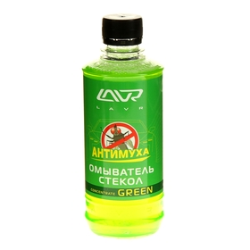 Омыватель стёкол LAVR Green антимуха, концентрат 1:40, 330 мл Ln1221 Ош