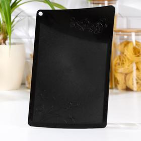 Доска разделочная «Рондо», 30×19 см, цвет чёрный