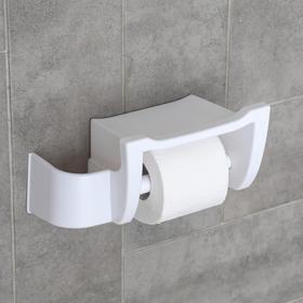 Полка для туалета 'Mira', цвет снежно-белый Ош