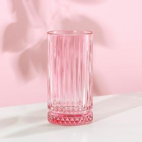 Стакан высокий Paşabahçe «Элизия», 450 мл, цвет розовый
