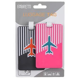 Бирка для багажа FABRETTI, цвет мультиколор