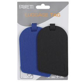 Бирка для багажа FABRETTI, цвет черный Ош