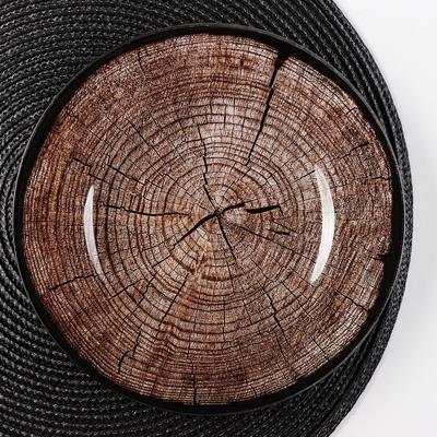Блюдо сервировочное «Спил дерева», d=21,5 см - Фото 1