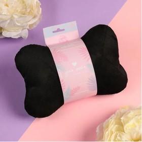 Подушка автомобильная подарочная 'Для тебя', велюр, черный, 16х24 см Ош