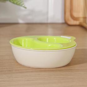 Набор мисок для СВЧ YAMADA, 2 шт, 12,3×14,4×3,3 см, цвет зелёный