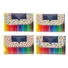 Мелки восковые 18 цветов HappyColor, выкручивающиеся, пластиковый корпус, МИКС