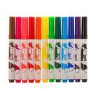 Фломастеры с утолщённым стержнем 12 цветов Joycolor Mini, в пластиковом кармане - Фото 3