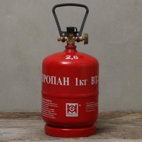 Баллон газовый, 2,4-2,6 л, туристический, пустой, LPG BT-1 Ош