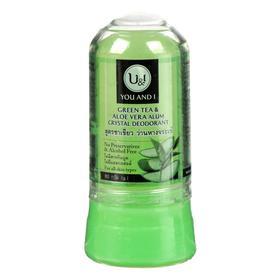 Дезодорант минеральный кристаллический U&I с зелёным чаем и алоэ вера, 80 г