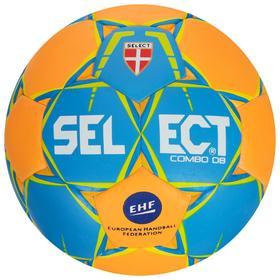 Мяч гандбольный SELECT COMBO DB Lille, размер 1, EHF, ПУ, гибридная сшивка, цвет оранжевый/синий Ош