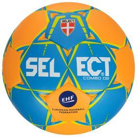 Мяч гандбольный SELECT COMBO DB Lille, размер 3, EHF, ПУ, гибридная сшивка, цвет оранжевый/синий Ош