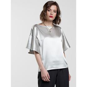 Блузка женская, размер 42, цвет светло-серый