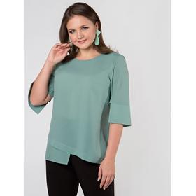 Блузка женская, размер 46, цвет пыльно-зеленый